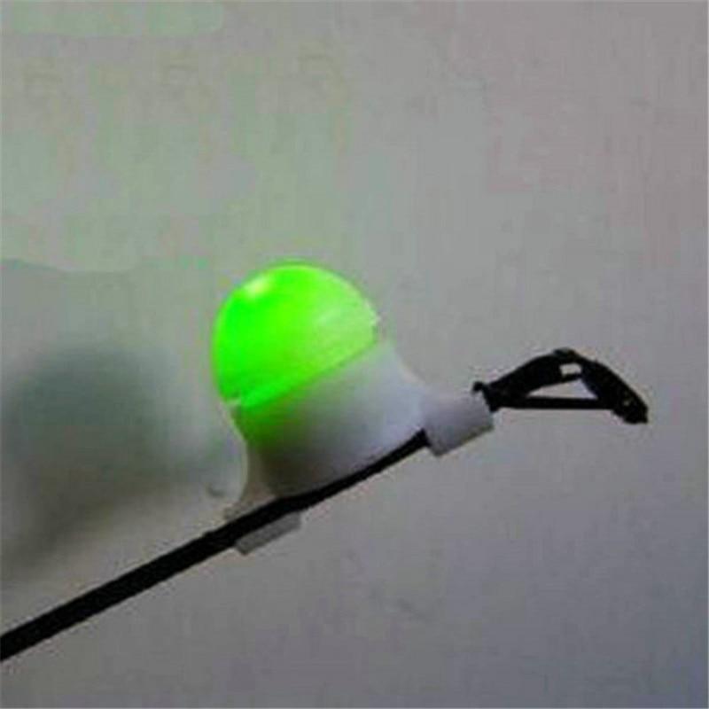 2 in 1 LED Night Fishing Rod Tip Clip on Fish Strike Bite Alert Alarm Light