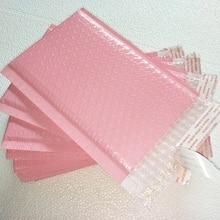 50 шт. полезное пространство 13x20+ 4 см светильник розовый поли пузырьковый почтовый конверты с мягким вкладышем почтовый пакет самозапечатывания