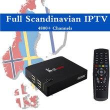 Escandinavo KIII PRO IPTV TV Box Amlogic S912 Octa core DVB T2 y S2 Android 6.0 3G 16G Flash Suecia Noruega Dinamarca Finlandia IPTV