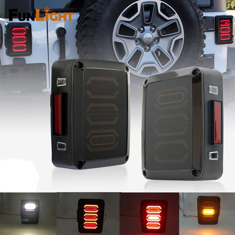 Светодиодные задние стоп-сигнал Ассамблеи W/сигнал поворота & назад для Jeep Вранглер JK JKU спорта, Сахаре, Рубикон свободы