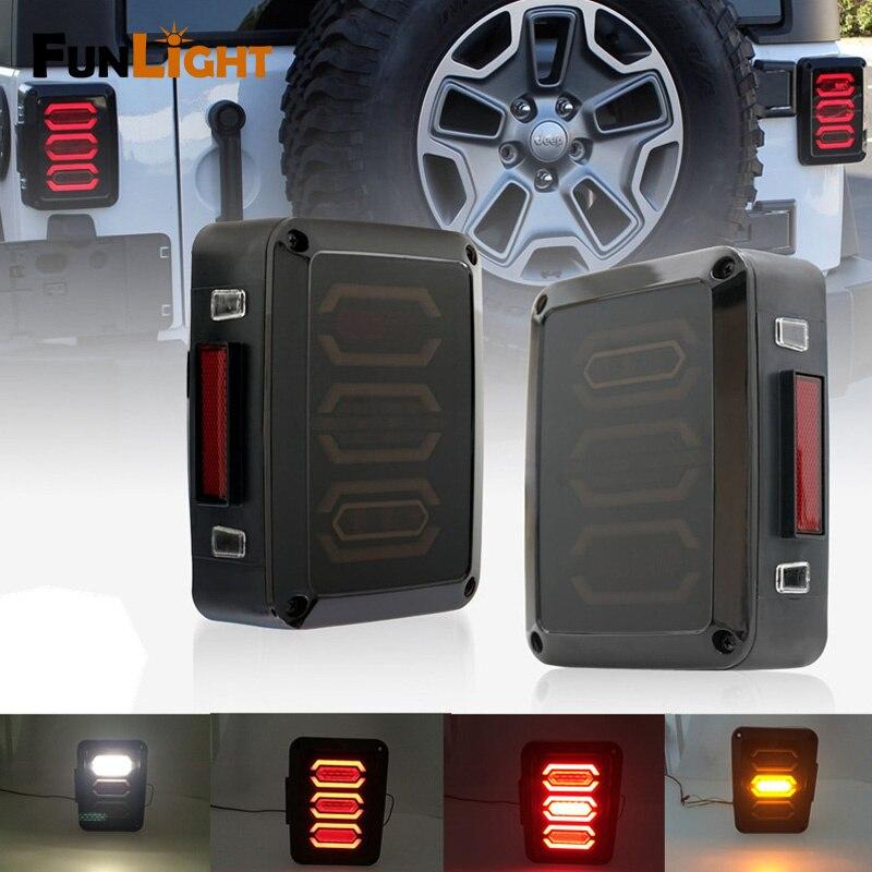 LED Tail Brake Light Assembly W/Turn Signal & Back Up For Jeep Wrangler JK JKU Sports, Sahara, Freedom Rubicon 1 pc j285 cb antenna mount holder tailgate for jeep wrangler rubicon liberty sahara jk