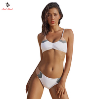 Ariel Sarah 2018 Women Swimsuit Patchwork Bikini Sexy Bathing Suit Simple Swimwear Brazilian Bikini Maillot De