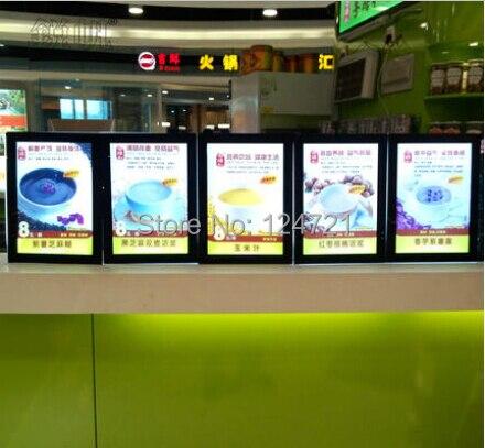 Акриловая доска меню, ресторанная реклама Led Лайтбокс А3