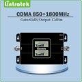 Mini tamaño Pantalla LCD Doble Ganancia 65dB amplificador de Señal de Teléfono Móvil repetidor GSM 850 MHz y 1800 MHz CDMA DCS Doble Banda de La Señal Booster