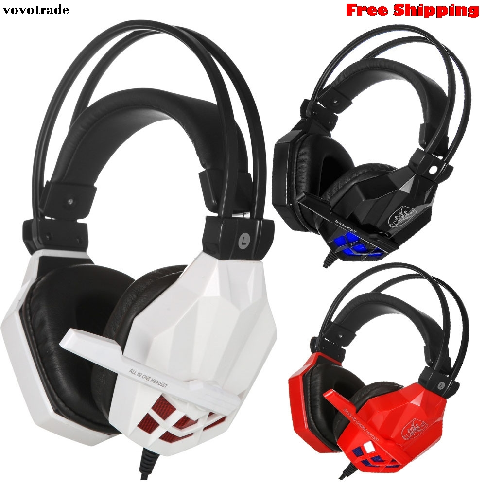 Surround Stereo Gaming Headset Headband Headphone Earphone USB 3.5mm with Mic for PC Free Shipping Drop Shipping 20 цена