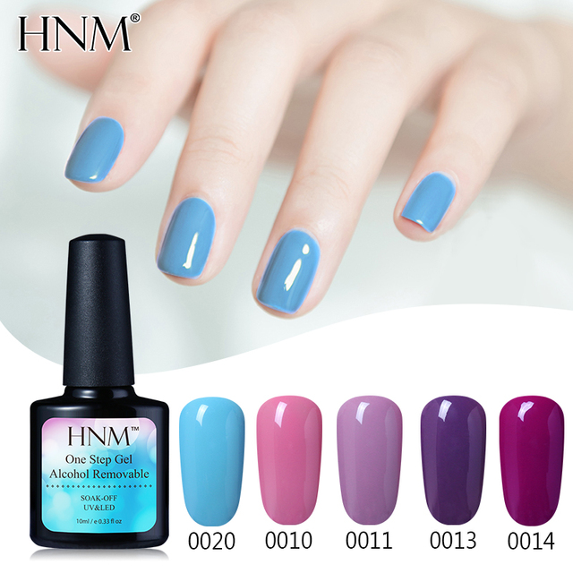 HNM 10ML Nail Polish 3 in 1 Painting Gellak Alcohol Removable One ...