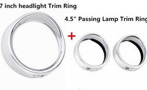 "Image 4 - חדש אופנוע כרום 7 ""אינץ פנס Trim טבעת מגן סגנון מתאים להארלי סיור כביש המלך אלקטרה Glide Softail FLD/FLH"