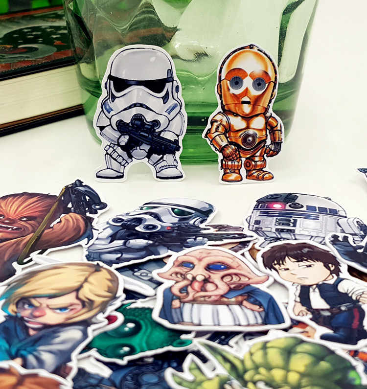 35 teile/beutel Star Wars cartoon album Sammelalbum wasserdicht dekoration aufkleber DIY Handgemachte Geschenk Scrapbooking aufkleber