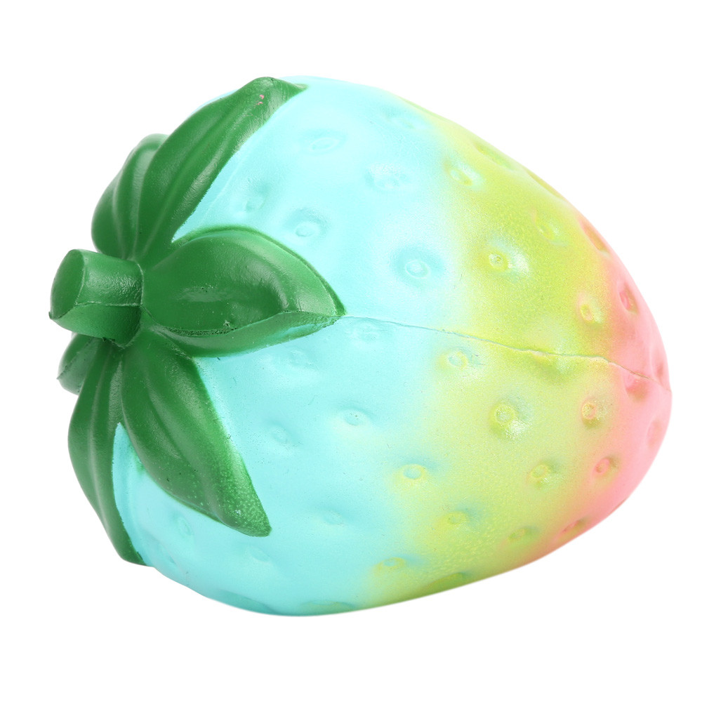 Squishies Slow Rising Rainbow Strawberry Squish Antistress Toy Cute Squishy Toys Stress Reliever Squeeze 30S71225 drop shipping