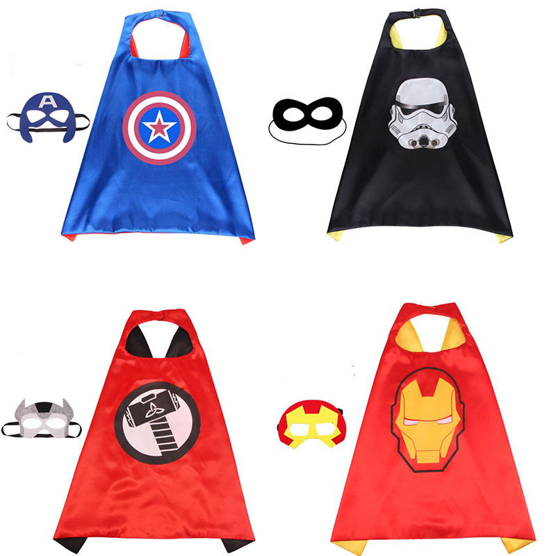 Toys Cloak Eye-Mask Ironman-Cape Shawl-Captain-America Hulk Marvel Thor The Avengers
