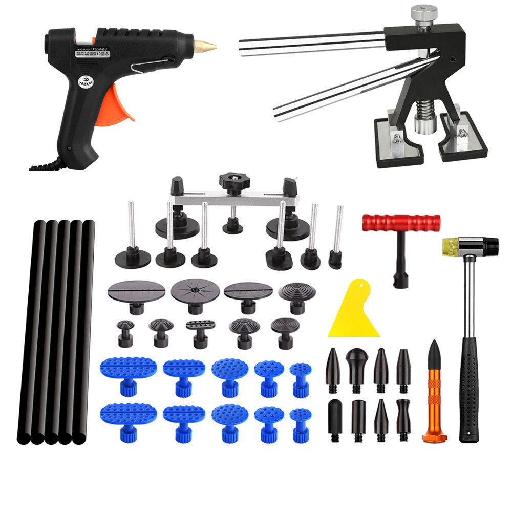 PDR Tools Paintless Dent Repair Tools Car Hail Damage Repair Tool Hot Melt Glue Sticks Glue Gun Puller Tabs Kit  pdr tools for car kit dent lifter glue tabs suction cup hot melt glue sticks paintless dent repair tools hand tools set