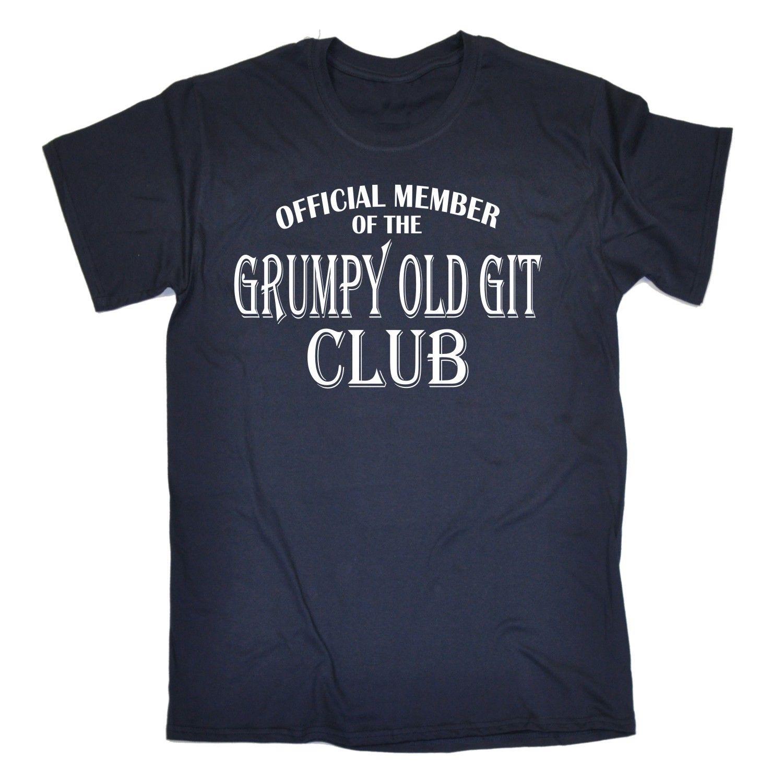Grumpy Old Git Club T-SHIRT Moody Dad Father Grandad Uncle Funny Gift Birthday Print T Shirt Men Harajuku Base Shirt
