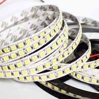 1/2/3/4/5M LED Strip 5050 DC12V 120LEDs/m Flexible LED Strip tape Lighting RGB /Warm white/White 5050 LED high brightness