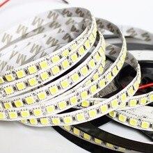 Tira de led de 1/2/3/4/5m, tira de led 5050 dc12v 120leds/m, flexível fita de iluminação 4000k rgb/branco quente/5050 led de alto brilho