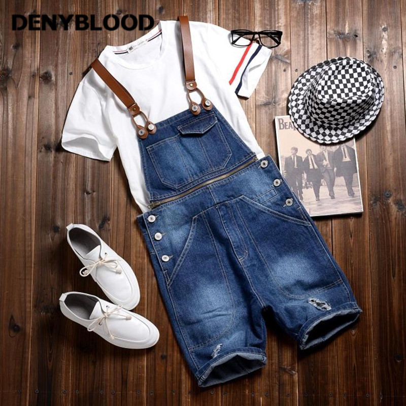 2017 Summer New Arrival Stretched Mens Slim Straight Denim Overalls Distressed Jeans Ripped Jumpsuit Male Suspenders Bibs 283 2017 spring autumn fashion mens slim jean overalls casual bib jeans for men male ripped denim jumpsuit suspenders bibs