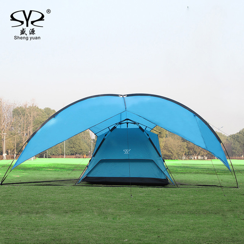 Sun Shelter UV With Poles Waterproof Awning Canopy outdoor Beach Shade Tarp Pergola Camping Picnic Pergola Sunshade Gazebo