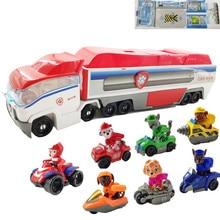 Paw patrol deformation rescue toy paw children bus boy girl version set birthday gift best