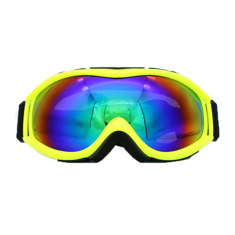 Lunettes de Ski, Suplyss Lunettes de Snowboard Anti-buée, Snow Goggles Lunettes de Neige sans Cadre Double Lentille, Lunettes de Soleil Larges Sphériques de Protection UV pour Moto Motoneige (Noir)