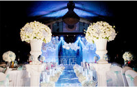 Luxurious Diameter 60cm Top rated White Roses Wedding flower decoration for Table Centerpiece Wedding Props 4pcs/lot