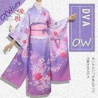 Яйца D. va песня Hana и Мэй Косплэй костюм Новинка весны фестиваль кожи; рождественские костюмы форма японские кимоно женское платье