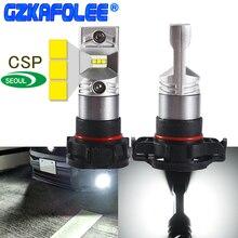 Gzkafolee h16 светодиодный ЕС высокой Мощность автомобили дневного света DRL лампы 5202 5201 CSP Y19 чип 1800LM автомобилей туман лампа PSX24W
