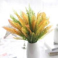 Marca Flores Artificiales Micro paisaje flores sienten Pérsico hierba flor simulación hojas de plantas de interior de la pared