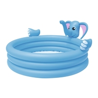 Inflatable 3 Ring Elephant Spray Swimming Play Pool Kids Summer Water Swim Game Garden Outdoor Ground Fun Raft