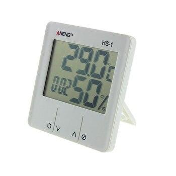 デジタルルームウェザーステーションHS-1液晶温度計電子温度湿度計湿度計屋内目覚まし時計P10デジタル時計