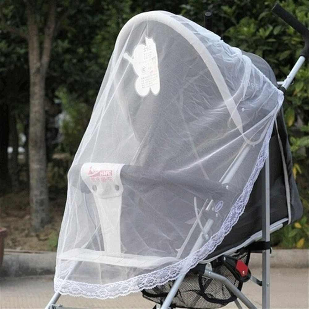 105*75cm Universal Lace Safe Baby Car Carriage Insect Mosquito Net Baby Stroller Cradle Bed Net