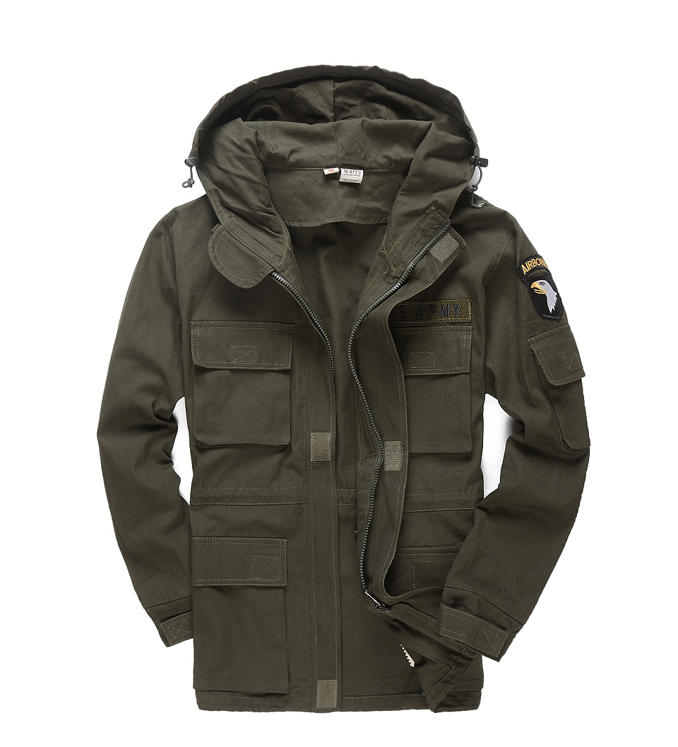 4c71225afe9a7 Fashion Men Military Style Tactical Jackets For Men Pilot Coat US Army 101  Air Force Bomber Jacket Coat Large size