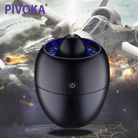 PIVOKA 260ml Air Humidifier USB Car Aroma Diffuser Umidificador Diffuseur Huile Essentiel Portable Mist Maker Blue LED Light