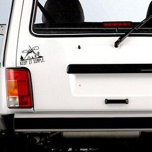 Image 4 - QYPF pegatina de vinilo para coche pegatina de ventana vívida en negro/plata C18 0259, 16,3 cm x 12,4 cm, interesante para acampar en la montaña