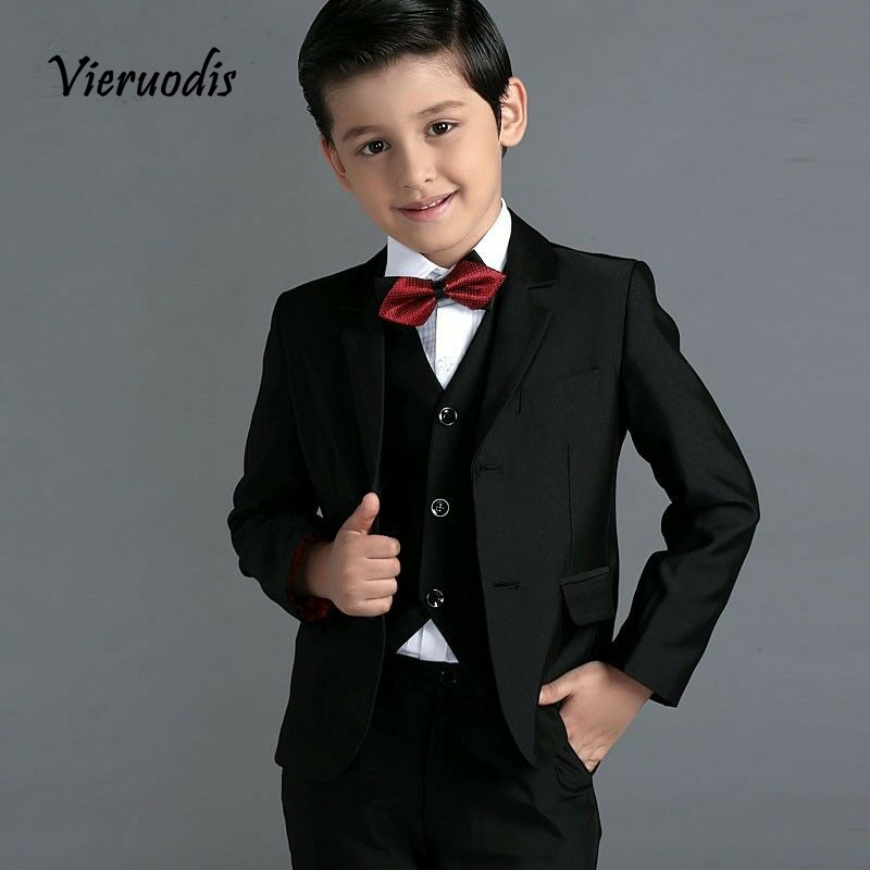 New Boys Party Graduation Suit Wedding Tuxedos Page Boy Slim Kids 3 Piece Suits in Boys 39 Attire from Weddings amp Events