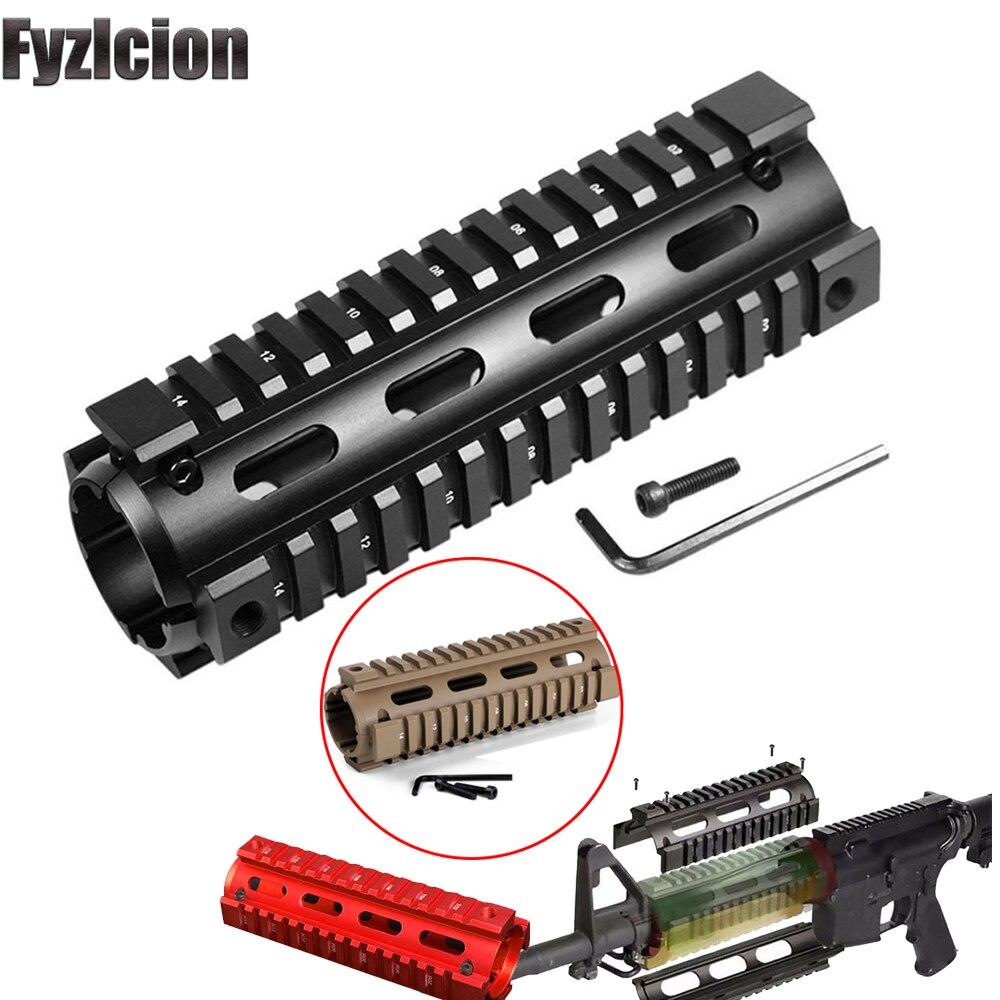 Quad-Rail Handguard Mounting Tactical Carbine 2-Piece M4 RIS Slim AR-15 Drop-In