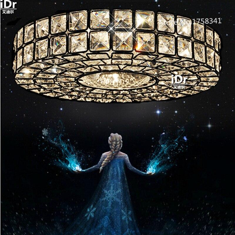 Бесплатная доставка, винтажная хрустальная лампа, Современные хромированные потолочные светильники для прихожей, светильники Dia30cm, лампа д