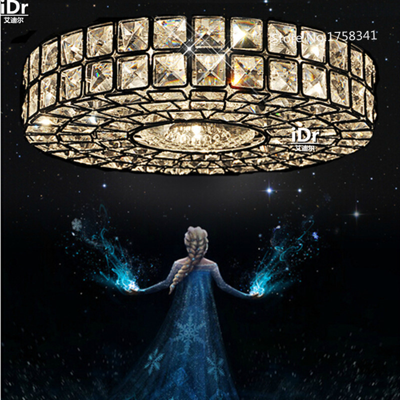 Free Shipping Vintage Crystal Lamp Modern Chrome Ceiling
