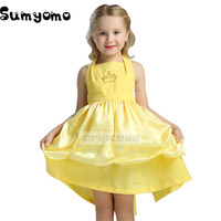 Girls Princess Belle Dresses Kids Cosplay Costume Clothing Children Beauty Birthday Sleeping Beauty Sofia Party Dress