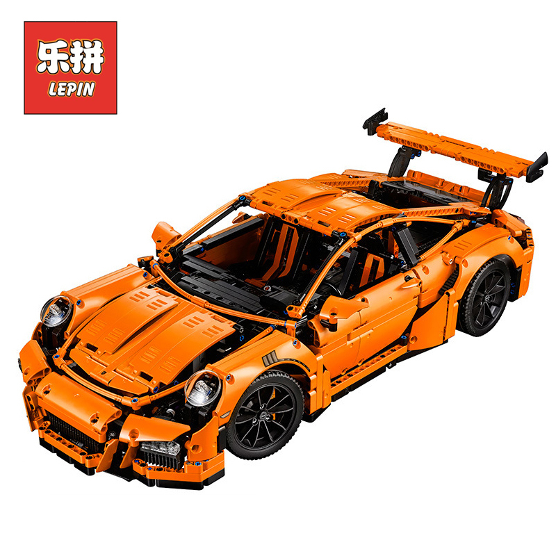 New Lepin 20001 Technic Series Race Car DIY Model Set Compatible legoinglys 42056 Building Blocks Bricks Children Toy Gifts