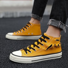 High top Sneakers Men Vulcanize Shoes Cool Young Man Canvas