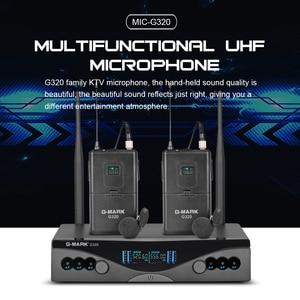 Image 4 - G MARK système de Microphone sans fil UHF G320 longue portée double canal 2 émetteur de micro portable karaoké professionnel de qualité supérieure