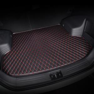 Image 3 - HeXinYan Custom Car Trunk Mats for Mitsubishi All Models ASX outlander pajero grandis pajero sport lancer galant Lancer ex