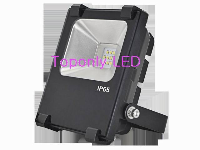 High Quality IP65 outdoor super bright led floodlight 10w with die-casting aluminum finned housing heat sink thickening design