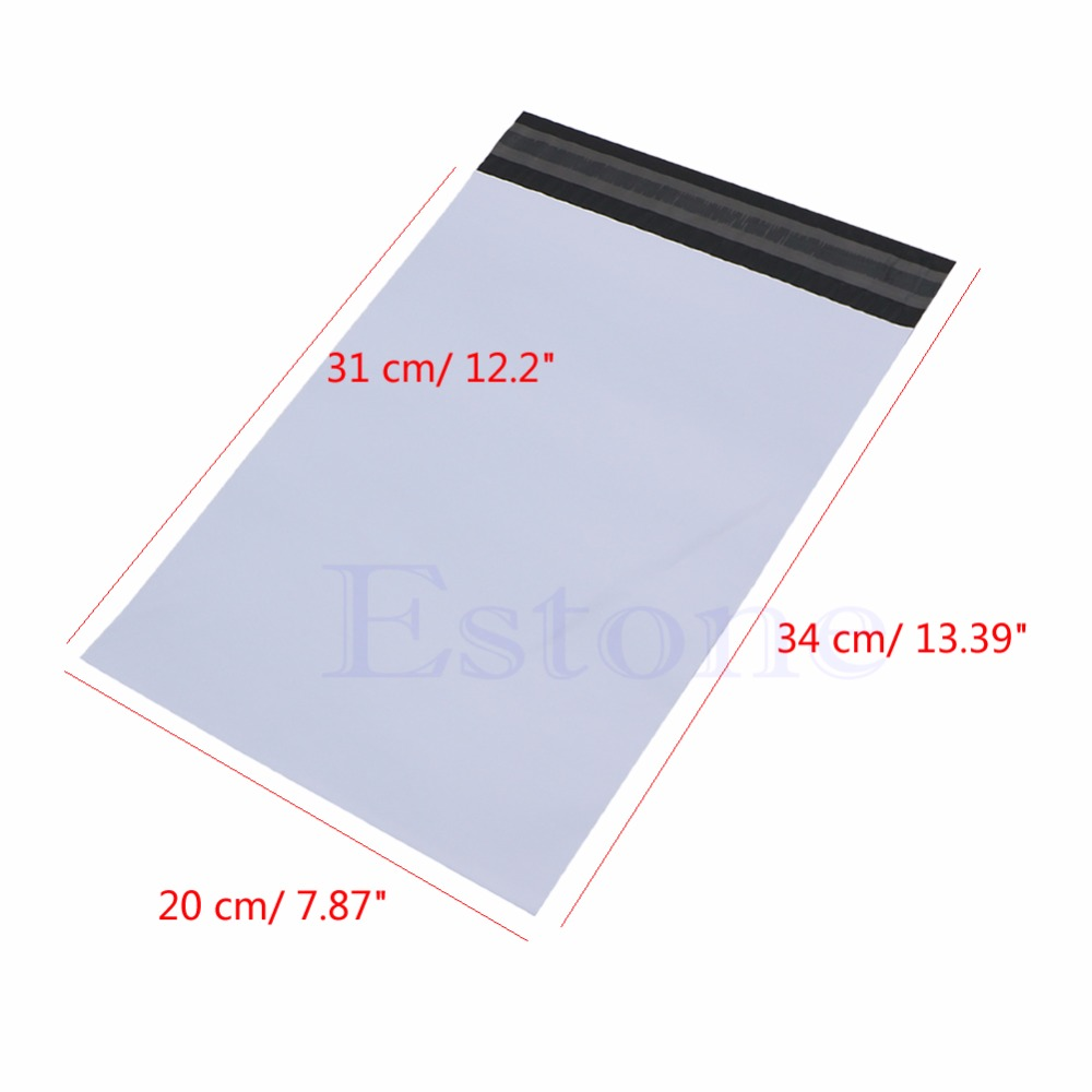 100Pcs Solid Envelope Express Bag Office Paper Envelope Poly Mailer Plastic Shipping Mailing Bags Envelope Polybag New us au standard touch wall switch 1 gang with crystal tempered glass panel and blue led backlight