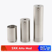 Volcanee SXK Atto Mod Vape Mechanical Mod Supported by 18650 Battery for RDA RTA Atomizers E Cigarettes Vapor DIY