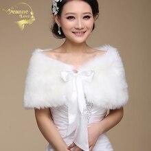 На меху для свадебных вечерок, Обёрточная бумага для вечернее платье Cheongsam женился верхняя одежда Свадебная накидка куртка осень-зима Болеро OJ00165