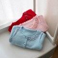 Hot 2017 primavera e no outono do bebê infantil crianças flor crianças camisola longa-sleeved camisola cardigan camisola meninas