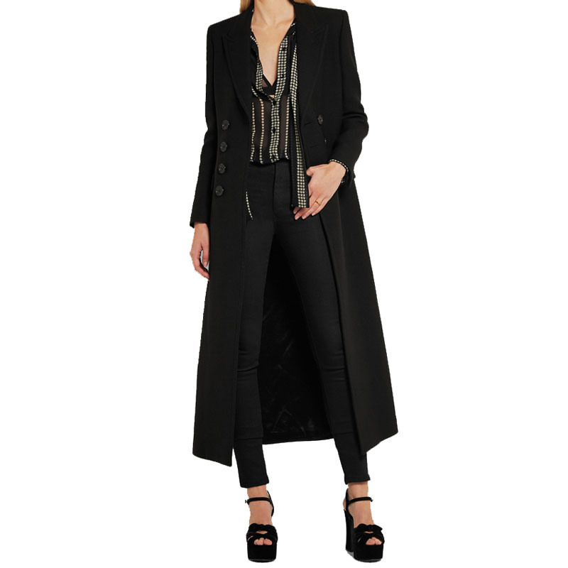 Mujer De Femmes long 2017 Trench Laine grey Printemps Abrigos Mode Manteau Femelle Simple X Femme Hiver Survêtement Classique Mince Black 1TvO1q