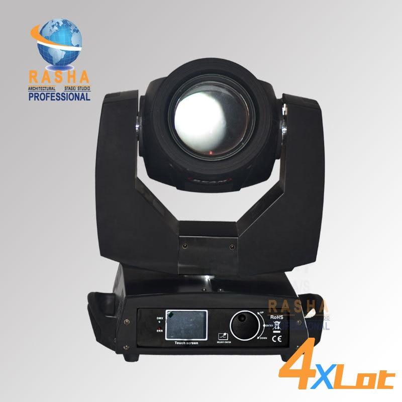 4X Lot P/N 816230 chine fournisseur 20 DMX canal 7R 230 W Sharpy faisceau de tête mobile avec moteur 3 phases et lentille de revêtement 6 couches