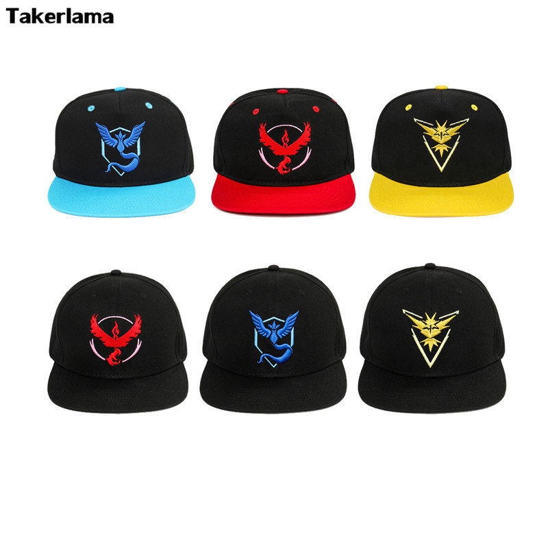 Takerlama Cosplay Mystic Team Instinct Adjustable Snapback Baseball Cap Visor Hat Cap