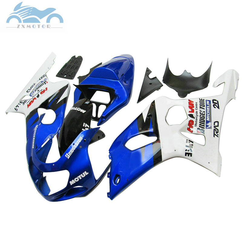 BLACK AND BLUE CUSTOM 01-02 K1 K2 FITS SUZUKI GSXR 1000 LEATHER SEAT COVER